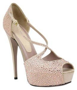 Gucci 362705 Pump Platform Crystals Light Pink Pumps