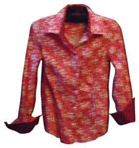 Ben Sherman Button Down Shirt raspberry floral