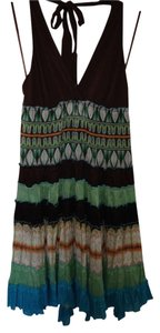 Green Opal Maxi Dress by BCBGMAXAZRIA Summer Halter Green New Designer Cotton Cute Sexy