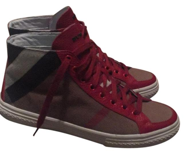 Item - Red High Top Sneakers Size US 8 Regular (M, B)