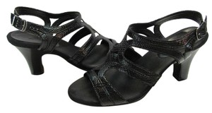 Aerosoles Size 10.00 M Very Good Condition Black Sandals