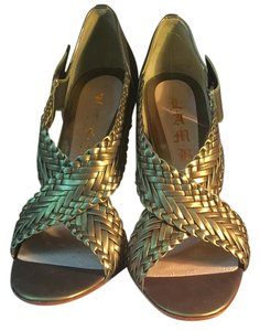 L.A.M.B. GALA Metallic Green Pumps