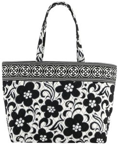 Vera Bradley Quilted Night Day Tote in Black and White