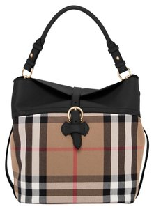 Burberry Satchel in Black with Tan Check