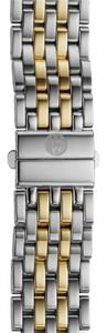 Michele NWT MICHELE Deco 7-Link Two-Tone Bracelet 18mm MS18AU285048