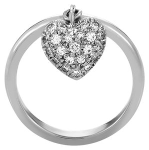 Tiffany & Co. Diamond Pave Heart Ring