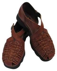 Aerosoles Size 10.00 M Cushioned Footbed Very Good Condition Brown Sandals