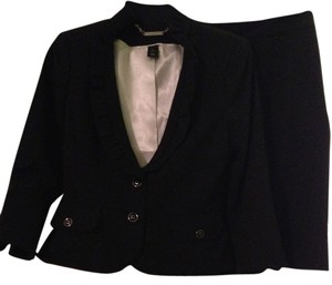 White House | Black Market Skirt suit with ruffles