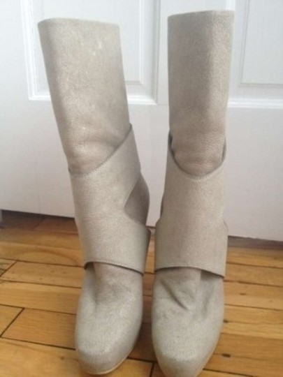Narciso Rodriguez Mid-calf Bandage By Edmundo Castillo For Gray/taupe Boots