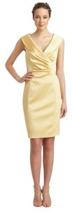 Kay Unger Portrait Collar Sheath Satin Dress