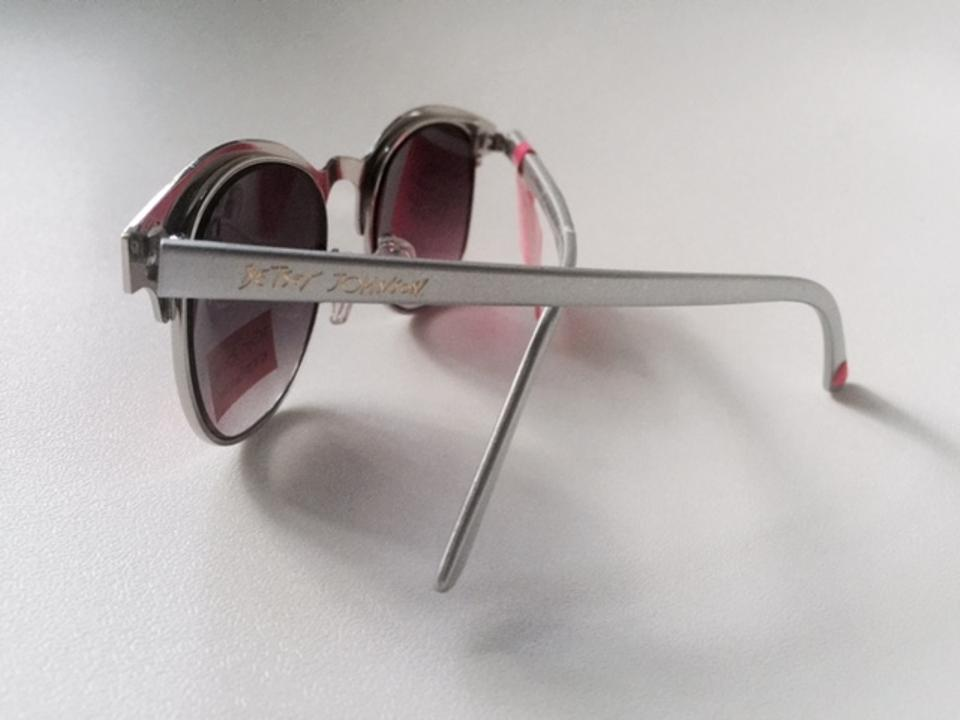 c5ec647ee88fd Betsey Johnson Silver New W Tag - Trendy Silvertone Semi-cat Eye Sunglasses