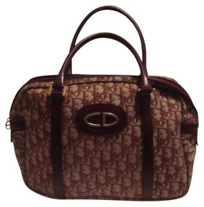 Dior Print Shades Of High-end Bohemian Xl Style Mint Vintage Satchel in Burgundy trotter logo