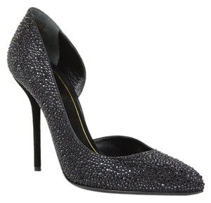Gucci 309868 Heel Pump Crystal Black Pumps
