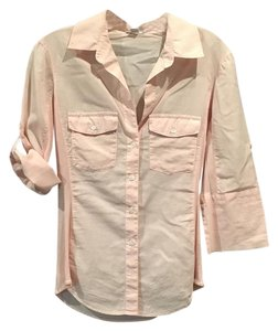 James Perse Button Down Shirt Pink