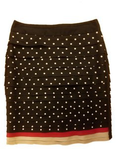 White House | Black Market Skirt Black, white