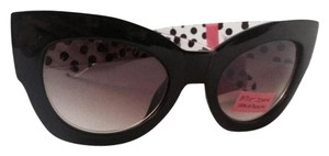 Betsey Johnson NEW W/TAG - Bold Statement Cat Eye with Polka Dot arms!