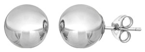 10Kt White Gold 5mm Ball Stud Earrings