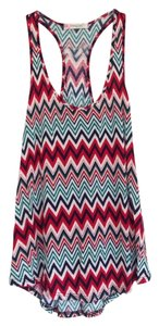 Chevron Racer-back Casual Top Red