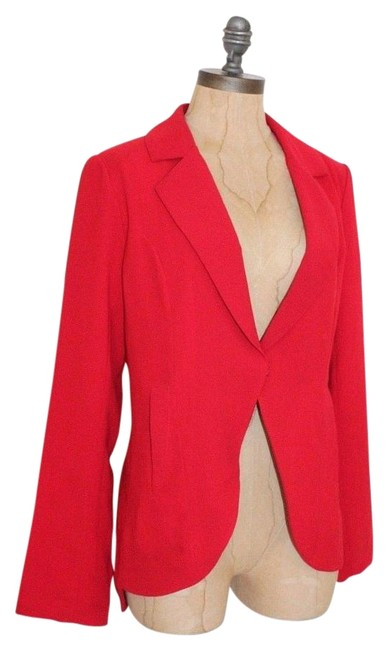 Item - Red Cut Out Blazer Size 8 (M)