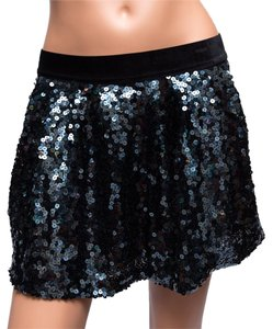 Juicy Couture Sequin Mini Mini Skirt Blue