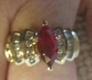Zales Marquis cut Ruby ring
