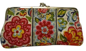 Vera Bradley VERA BRADLEY CLUTCH WALLET PURSE *DOUBLE KISS LOCK*