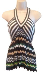 Missoni Black/White/Blue/Peach/Green Halter Top
