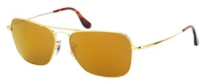 Ray-Ban Limited Edition Ray-Ban Ultra Caravan Gold Sunglasses RB8034K Polarized 18k Gold Plated 58mm