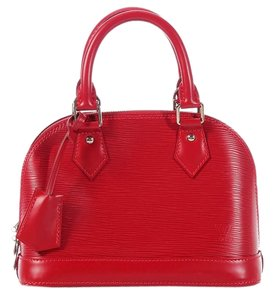 Louis Vuitton Red Bb Top Handle Lv.k0705.15 Small Cross Body Bag