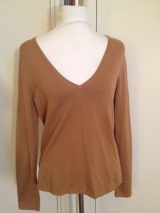 Yansi Fugel Silk Stretch Scoop Neck Sweater