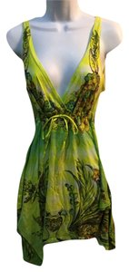Butterfly Dropout short dress yellow on Tradesy