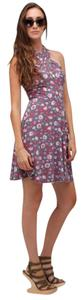 Free People short dress Multi Floral Halter Floral Crossover on Tradesy