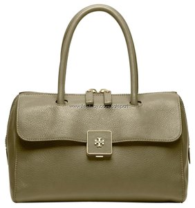Tory Burch Leather Excellent Condition Satchel in Olive Green