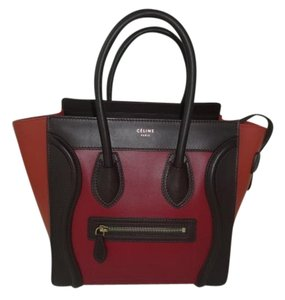 Céline Tote in Chocolate/Red/Orange