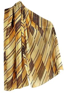 INC International Concepts NEW graphic ivory/tan/black print polyester