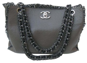 Chanel Tweed Kim Kardashian Tote in Taupe