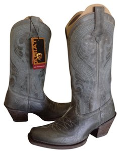 Ariat Teal Distressed Leather Cowgirl Teal Granite Boots
