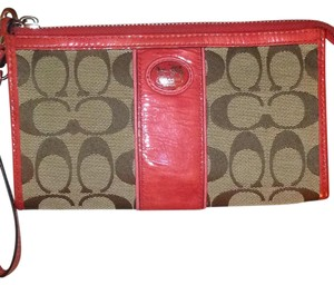 Coach Coach Zip Across Wristlet/Wallet