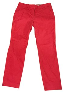 J.Crew Straight Pants Red