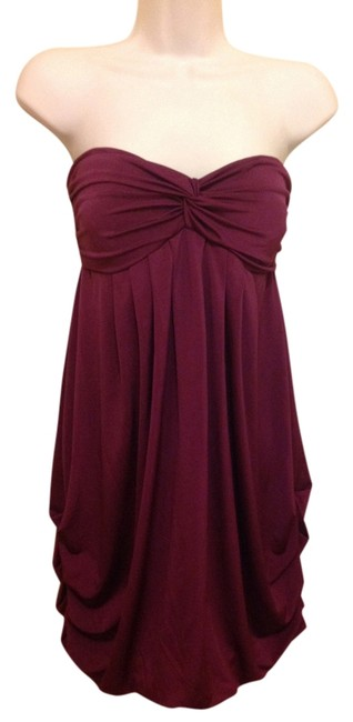 Item - Purple Above Knee Night Out Dress Size 14 (L)