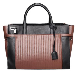 Zadig & Voltaire Leather New Collection Stylish Tote in Black Ebony