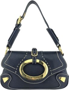 Dolce&Gabbana Gold Hardware Logo Shoulder Bag