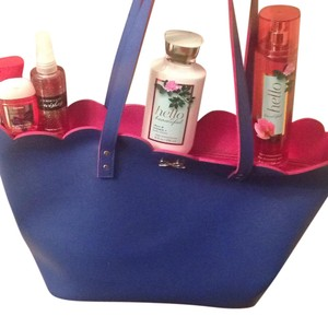 Bath and Body Works Tote in Blue & Pink