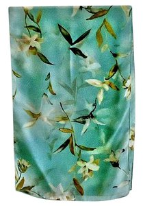Other NEW lily design on powder-blue background polyester