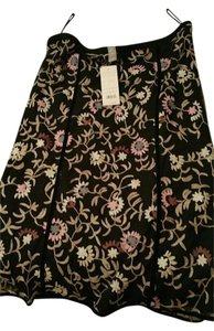 Sigrid Olsen Skirt Black w/ embroidery