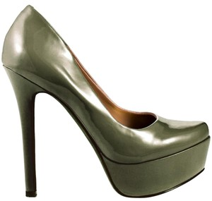 Jessica Simpson Pumps High Heels Olive Military Fatigue Platforms