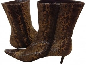 Fioni brown snakeskin Boots