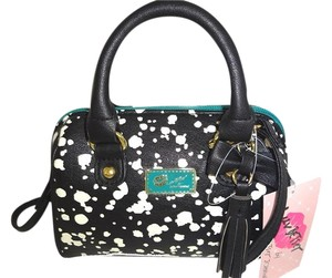 Betsey Johnson Mini Barrel Spot Cross Body Bag