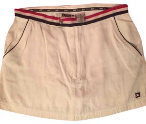 DKNY Mini Skirt White with black and red trim/accents