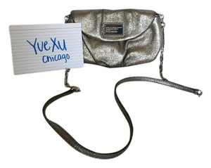 Marc Jacobs Metallic Neutral Edgy Cross Body Bag